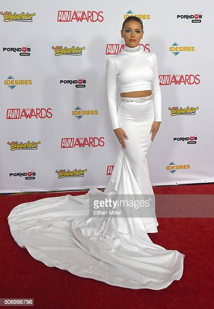 Adult film actress Adriana Chechik attends the 2016 Adult Video News Awards at the Hard Rock Hotel Casino on January 23 2016 in Las Vegas Nevada