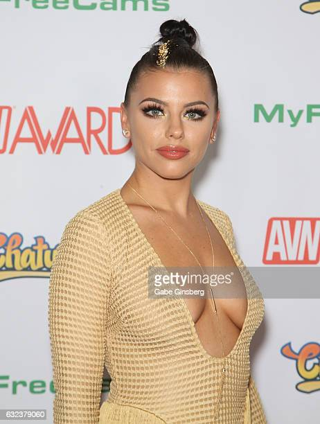 Adult film actress Adriana Chechik attends the 2017 Adult Video News Awards at the Hard Rock Hotel Casino on January 21 2017 in Las Vegas Nevada