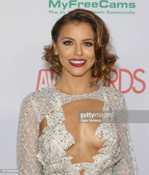 Adult film actress Adriana Chechik attends the 2018 Adult Video News Awards at the Hard Rock Hotel Casino on January 27 2018 in Las Vegas Nevada
