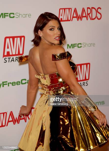 Adult film actress Adriana Chechik attends the 2020 Adult Video News Awards at The Joint inside the Hard Rock Hotel & Casino on January 25, 2020 in...