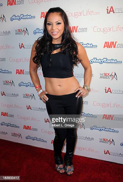 Adult Film Actress Adrianna Luna Arrives For The 1st Annual Sex Awards 2013 Held At Avalon