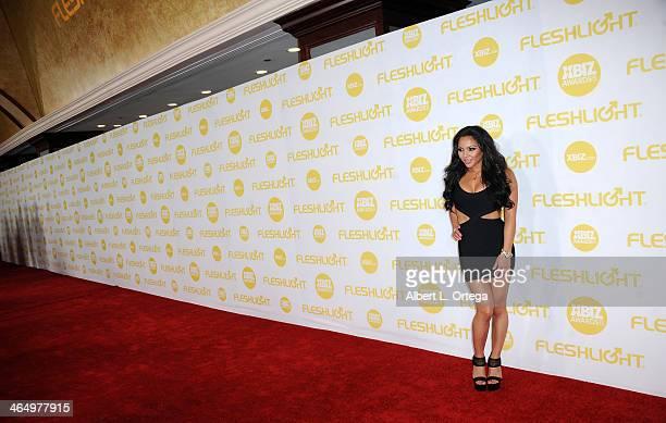 Adult Film Actress Adrianna Luna Arrives For The  Xbiz Awards Held At The Hyatt Regency