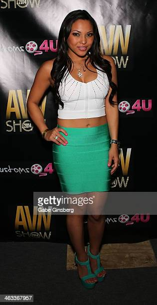Adult Film Actress Adrianna Luna Attends The  Avn Adult Entertainment Expo At The Hard Rock