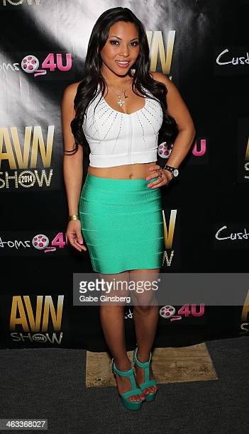 Adult film actress Adrianna Luna attends the 2014 AVN Adult Entertainment Expo at the Hard Rock Hotel Casino on January 17 2014 in Las Vegas Nevada