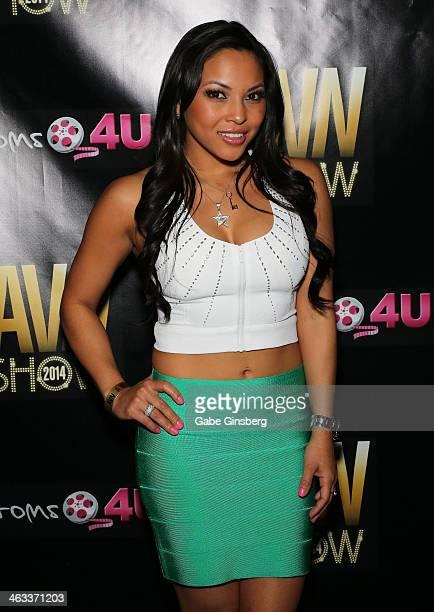 Adult Film Actress Adrianna Luna Attends The 2014 Avn Adult Entertainment Expo At The Hard Rock