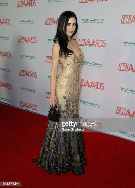 Adult film actress Aiden Ashley attends the 2018 Adult Video News Awards at the Hard Rock Hotel Casino on January 27 2018 in Las Vegas Nevada