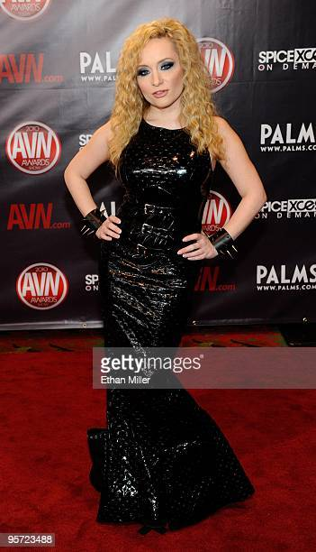 Adult film actress Aiden Starr arrives at the 27th annual Adult Video News Awards Show at the Palms Casino Resort January 9 2010 in Las Vegas Nevada