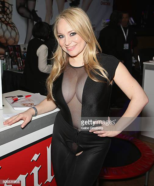 Adult film actress Aiden Starr attends the 2016 AVN Adult Entertainment Expo at The Joint inside the Hard Rock Hotel Casino on January 22 2016 in Las...