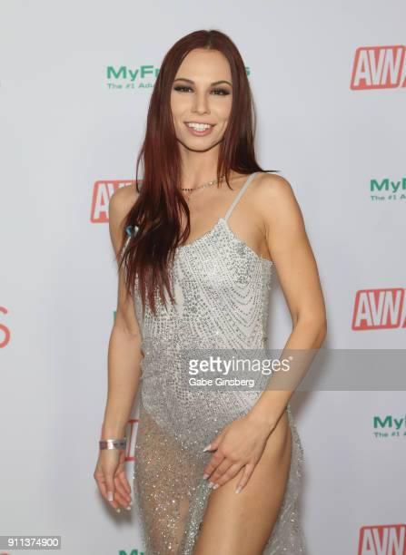 Adult film actress Aidra Fox attends the 2018 Adult Video News Awards at the Hard Rock Hotel Casino on January 27 2018 in Las Vegas Nevada