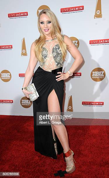 Adult film actress AJ Applegate arrives for the 2016 XBIZ Awards held at JW Marriott Los Angeles at LA LIVE on January 15 2016 in Los Angeles...