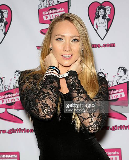 Adult film actress AJ Applegate attends the 2015 AVN Adult Entertainment Expo at the Hard Rock Hotel Casino on January 22 2015 in Las Vegas Nevada