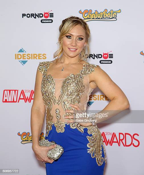 Adult film actress AJ Applegate attends the 2016 Adult Video News Awards at the Hard Rock Hotel Casino on January 23 2016 in Las Vegas Nevada