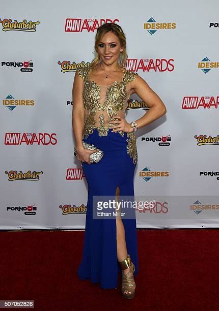 Adult film actress AJ Applegate attends the 2016 Adult Video News Awards at the Hard Rock Hotel & Casino on January 23, 2016 in Las Vegas, Nevada.