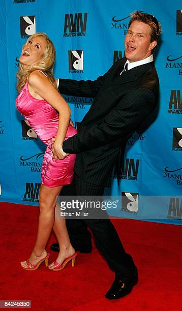 Adult film actress Alana Evans and her husband, adult film actor and director Chris Evans, arrive at the 26th annual Adult Video News Awards Show at...