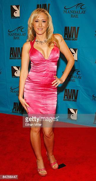 Adult film actress Alana Evans arrives at the 26th annual Adult Video News Awards Show at the Mandalay Bay Events Center January 10, 2009 in Las...