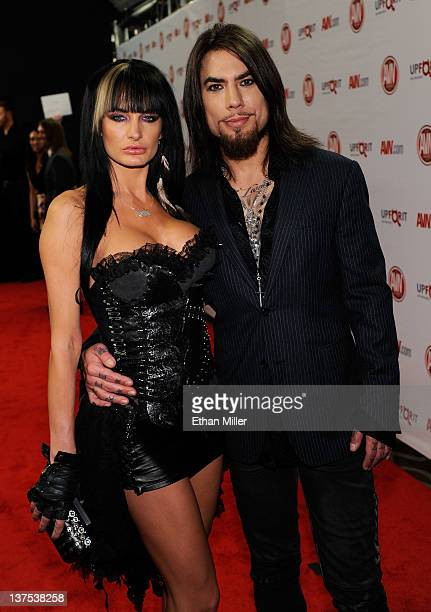 Adult film actress Alektra Blue and recording artist Dave Navarro arrive at the 29th annual Adult Video News Awards Show at the Hard Rock Hotel...