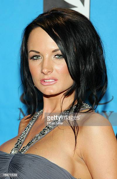 Adult film actress Alektra Blue arrives at the 25th annual Adult Video News Awards Show at the Mandalay Bay Events Center January 12 2008 in Las...