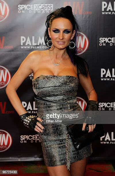 Adult film actress Alektra Blue arrives at the 27th annual Adult Video News Awards Show at the Palms Casino Resort January 9 2010 in Las Vegas Nevada