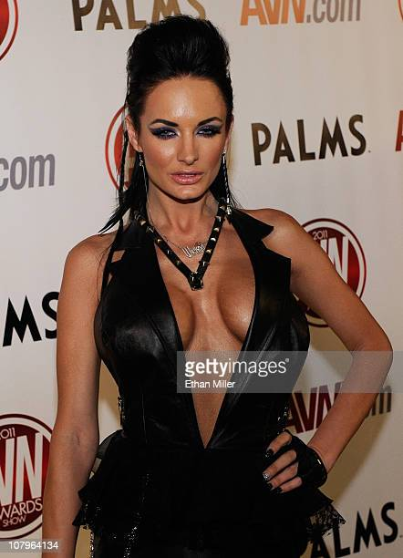 Adult film actress Alektra Blue arrives at the 28th annual Adult Video News Awards Show at the Palms Casino Resort January 8 2011 in Las Vegas Nevada