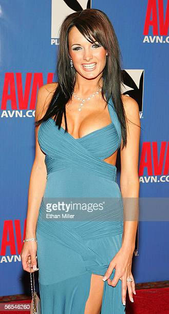 Adult film actress Alektra Blue arrives at the Adult Video News Awards Show at the Venetian Resort Hotel and Casino January 7 2006 in Las Vegas Nevada