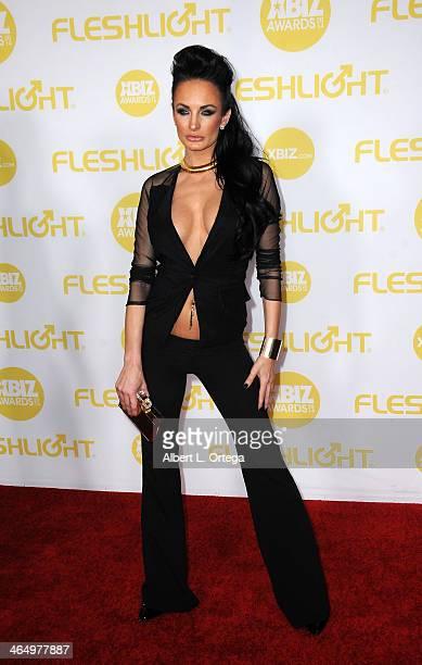 Adult film actress Alektra Blue arrives for the 2014 XBIZ Awards held at The Hyatt Regency Century Plaza Hotel on January 24 2014 in Century City...