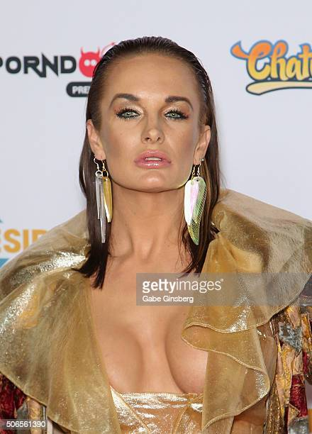 Adult film actress Alektra Blue attends the 2016 Adult Video News Awards at the Hard Rock Hotel Casino on January 23 2016 in Las Vegas Nevada