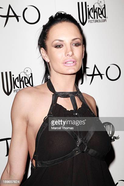 Adult film actress Alektra Blue attends the official AVN Awards preparty at the Tao Nightclub at The Venetian on January 17 2013 in Las Vegas Nevada