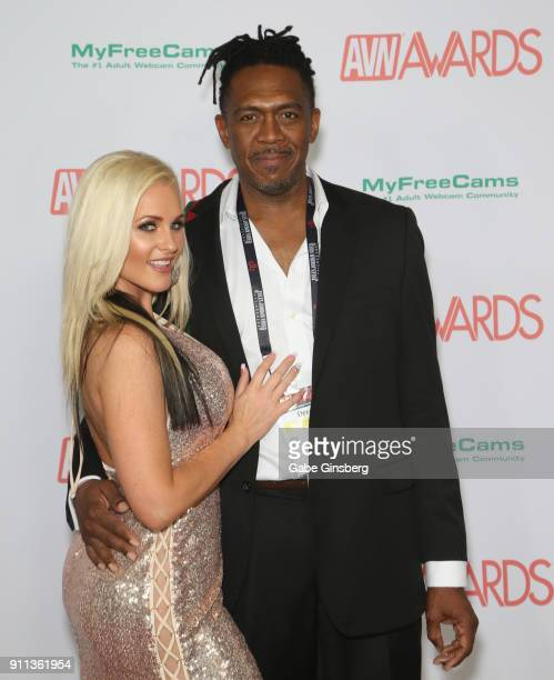 Adult film actress Alena Croft and adult film actor Dredd attend the 2018 Adult Video News Awards at the Hard Rock Hotel Casino on January 27 2018 in...