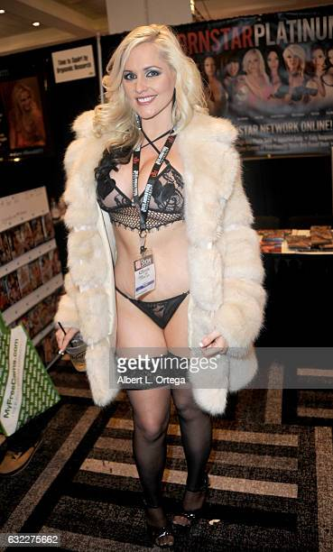Adult film actress Alena Croft attends the 2017 AVN Adult Entertainment Expo at the Hard Rock Hotel Casino on January 20 2017 in Las Vegas Nevada