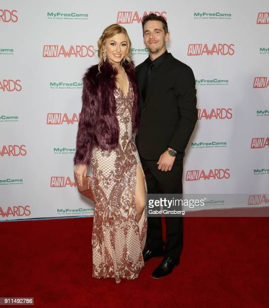 Adult film actress Alexa Grace and Jared Williams attend the 2018 Adult Video News Awards at the Hard Rock Hotel Casino on January 27 2018 in Las...