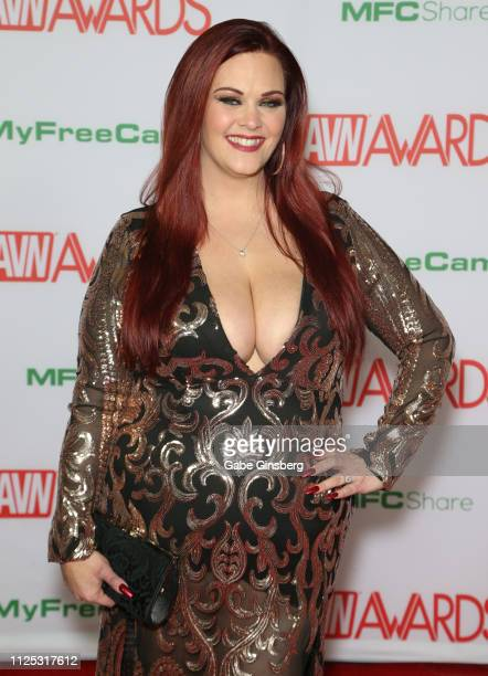 Adult film actress Alexa Grey attends the 2019 Adult Video News Awards at The Joint inside the Hard Rock Hotel Casino on January 26 2019 in Las Vegas...