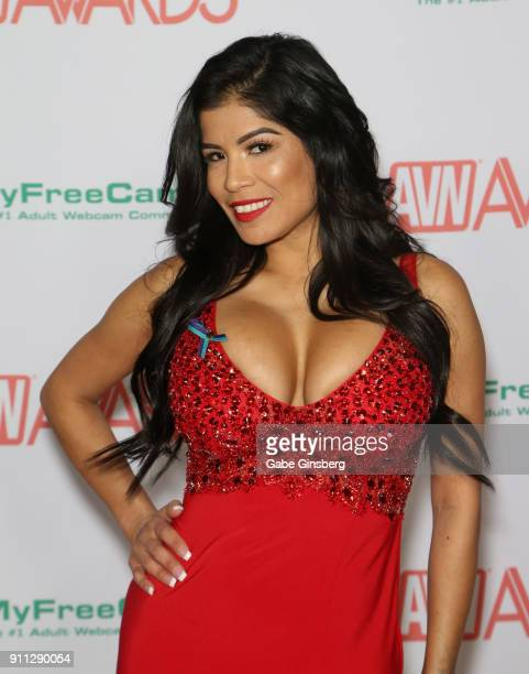 Adult Film Actress Alexis Amore Attends The 2018 Adult Video News Awards At The Hard Rock