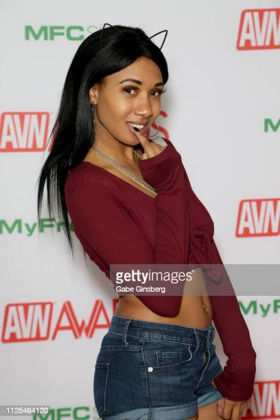 Adult film actress Alexis Avery attends the 2019 Adult Video News Awards at The Joint inside the Hard Rock Hotel Casino on January 26 2019 in Las...