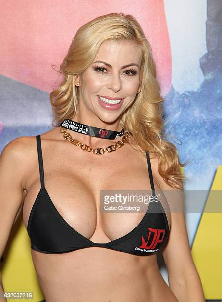 Adult film actress Alexis Fawx appears at the Digital Playground booth during the 2017 AVN Adult Entertainment Expo at the Hard Rock Hotel Casino on...