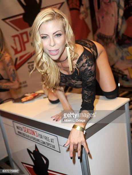 Adult film actress Alexis Fawx attends the 2017 AVN Adult Entertainment Expo at the Hard Rock Hotel Casino on January 20 2017 in Las Vegas Nevada