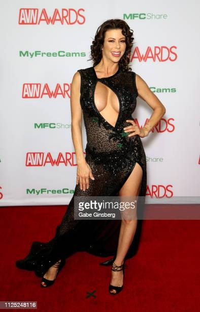Adult film actress Alexis Fawx attends the 2019 Adult Video News Awards at The Joint inside the Hard Rock Hotel & Casino on January 26, 2019 in Las...
