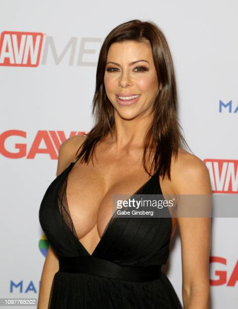 Adult film actress Alexis Fawx attends the 2019 GayVN Awards show at The Joint inside the Hard Rock Hotel Casino on January 21 2019 in Las Vegas...