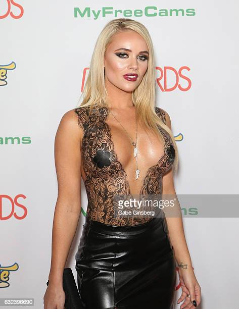 Adult film actress Alexis Monroe attends the 2017 Adult Video News Awards at the Hard Rock Hotel Casino on January 21 2017 in Las Vegas Nevada