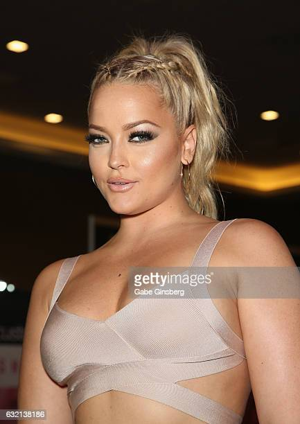 Adult film actress Alexis Texas appears at the Fleshlight booth during the 2017 AVN Adult Entertainment Expo at the Hard Rock Hotel Casino on January...