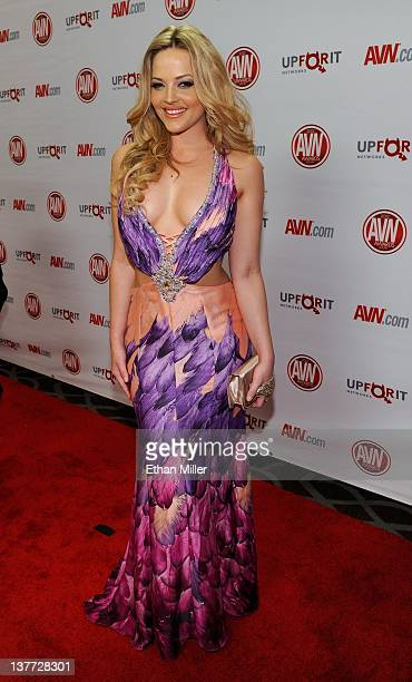 Adult film actress Alexis Texas arrives at the 29th annual Adult Video News Awards Show at the Hard Rock Hotel Casino January 21 2012 in Las Vegas...