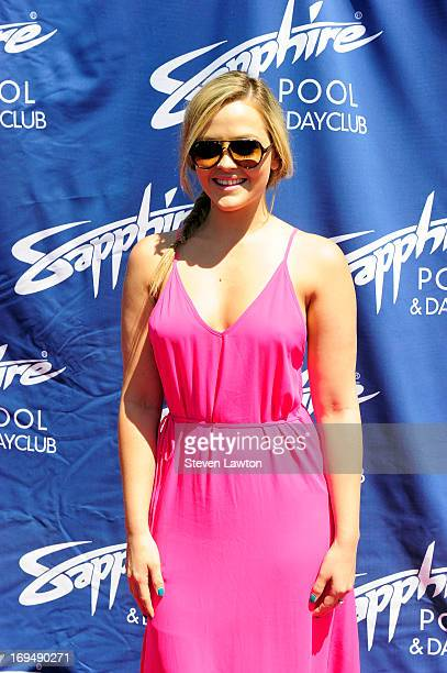 Adult film actress Alexis Texas arrives at the Sapphire Pool Day Club during Memorial Day weekend on May 25 2013 in Las Vegas Nevada