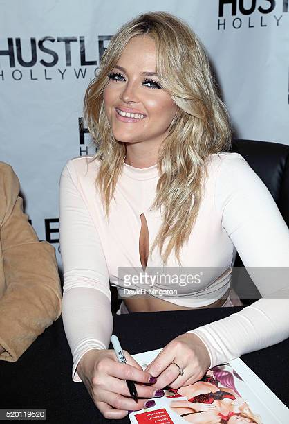 Adult film actress Alexis Texas attends the Hustler Hollywood new store opening at Hustler Hollywood on April 9 2016 in Los Angeles California