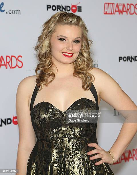 Adult film actress Alice Nysm arrives at the 2015 Adult Video News Awards at the Hard Rock Hotel Casino on January 24 2015 in Las Vegas Nevada