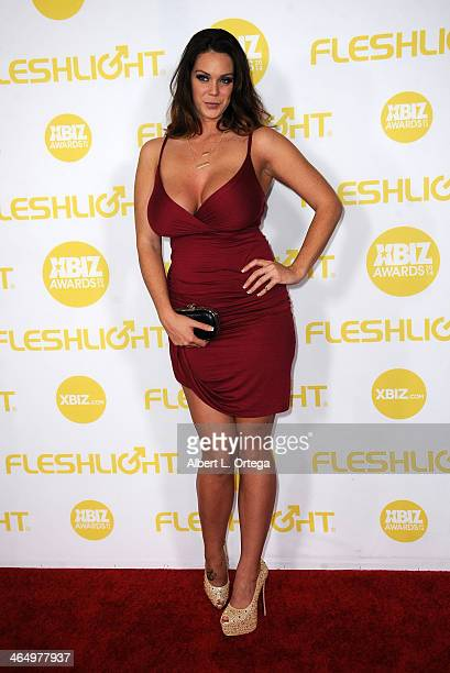 Adult film actress Alison Tyler arrives for the 2014 XBIZ Awards held at The Hyatt Regency Century Plaza Hotel on January 24 2014 in Century City...