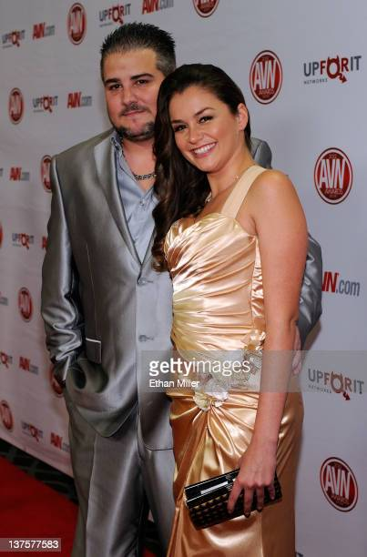 Adult film actress Allie Haze and her boyfriend Chris Hayes arrive at the 29th annual Adult Video News Awards Show at the Hard Rock Hotel Casino...