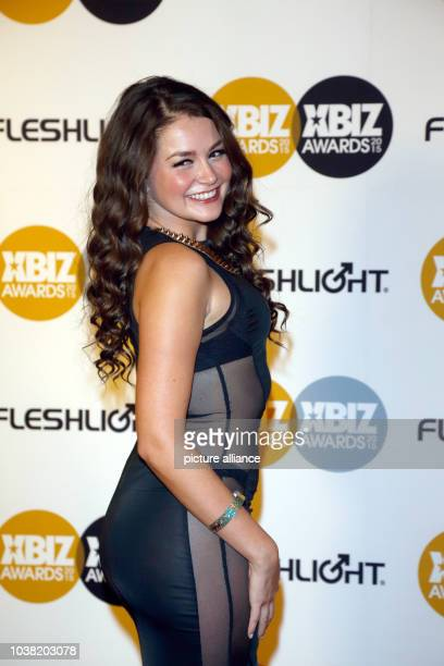 Adult film actress Allie Haze arrives at the 2015 Xbiz Awards in Los Angeles USA on 15 January 2015 Photo Hubert Boesl NO WIRE SERVICE | usage...