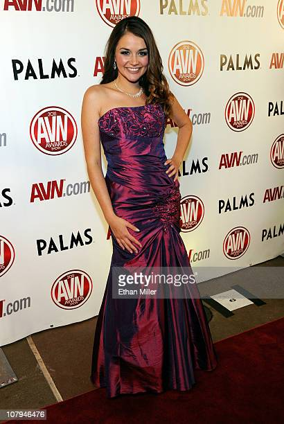 Adult film actress Allie Haze arrives at the 28th annual Adult Video News Awards Show at the Palms Casino Resort January 8 2011 in Las Vegas Nevada