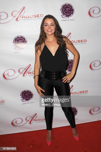 Adult film actress Allie Haze arrives for the Premiere Of 'Aroused' held at Landmark Nuart Theatre on May 1 2013 in Los Angeles California