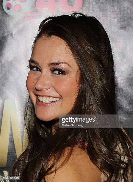 Adult film actress Allie Haze attends the 2014 AVN Adult Entertainment Expo at the Hard Rock Hotel Casino on January 16 2014 in Las Vegas Nevada