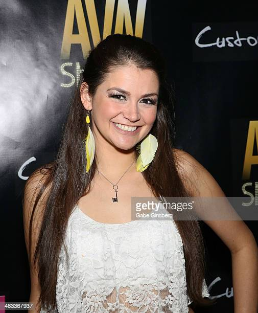 Adult film actress Allie Haze attends the 2014 AVN Adult Entertainment Expo at the Hard Rock Hotel Casino on January 17 2014 in Las Vegas Nevada